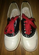 Vintage Thom. McAn Saddle Shoes Sz 8 Womens Never Worn Leather