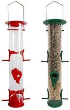Waterproof Bird Feeders Seeds Holder Wild Birdfeeder Outdoor Hanging Tubes 2 pcs