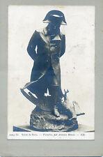 Wunderschönes altes CDV Foto Napoleon I. Skulptur Waterloo Antonin Mercié Paris