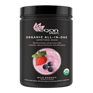 VeganSmart Organic All in One Wild Berry 14 Servings 18.27 oz Vegan Protein