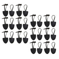 12 Sets PU Leather Buttons Horn Toggle Closures for Coat Shawl Clothes Decor