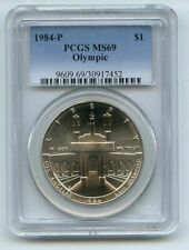 1984 P $1 Olympic Silver Commemorative Dollar PCGS MS69