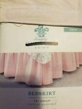 Simply Shabby Chic Pink Twin Bedskirt