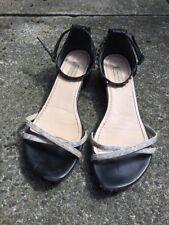 Marc Jacobs Grey Snake Skin & Black Leather Studded Sandals Shoes Size 37 UK 4