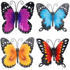 Metal Garden Butterfly Wall Art Red Blue Purple Orange Fence Shed Outdoor Indoor