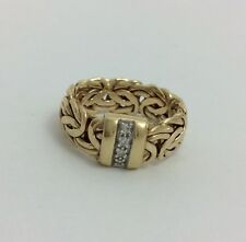14K YELLOW GOLD BYZANTINE RING SIZE 6.5