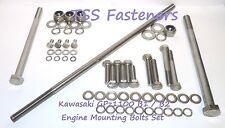 Kawasaki GPz1100/GPz 1100 B1/B2 Engine Mounting Bolts Set - Stainless Steel