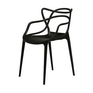 Masters Stuhl Kartell schwarz 53,5 x 55 cm, h 83 cm