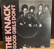 GOOD GIRLS DON'T THE KNACK UK BRITISH PRESS VINYL 45 RECORD P/S FRUSTRATED