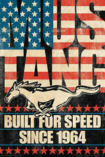 Ford Mustang - Build For Speed Car Poster Print, 24x36
