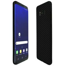 Skinomi Black Carbon Fiber Skin+Screen Protector For Samsung Galaxy S8 Plus S8+