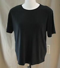 Koret, XL (18/20) Black Knit Top, New with Tags
