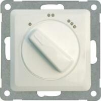 Kopp Milano reinweiss 3-Stufenschalter 3 Stufen-Schalter bis 3600W Drehschalter