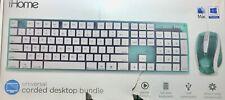 ihome universal corded desktop bundle game friendly usb plug n play green open