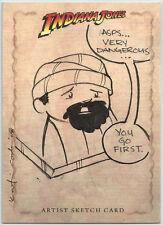 """Indiana Jones Heritage ~ KATIE COOK Sketch Card b Sallah """"Asps, very dangerous"""""""