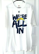 San Diego Chargers Size XL White Short Sleeve 100% Cotton T-Shirt We're All In
