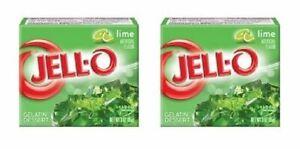 Jell-O Lime Gelatin Dessert Mix 2 Box Pack