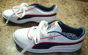 Puma Men's GV Special Casual Sneakers Leather White Blue Red Size 8.5 NEW!