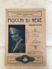 SPARTITO MUSICALE FIOCCHI DI NEVE TILDE SERAO ELLENA GIORDANO CANZONE BLUES