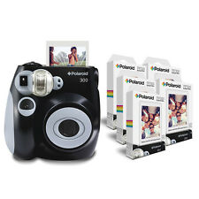 MACCHINA fotografica Polaroid PIC 300 in nero con 5 x PIF 300 carta Bundle Pack = 50 stampe