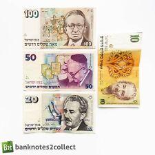More details for israel: set of 4 israeli new sheqalim banknotes.