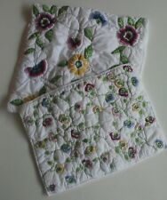New listing The Company Store Pillow Cover White Floral Embroidered pil 00006000 lowcase 2 Small