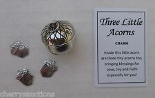 a Three Little acorns Prayer Box 3 mini acorn charm triplet love joy faith ganz