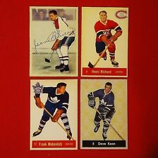 Beliveau/Richard/Mahovlich/Keon (Rookie Reprints) -1950's- Parkhurst - Lot of 4