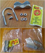 """U-Bolt Assembly 1-1/2"""" Wide Antenna Mast Clamps Support Brackets Set of 2"""