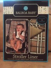 Baby Stroller Liner Tan Plaid Universal Fit Reversible Balboa Baby New In Box