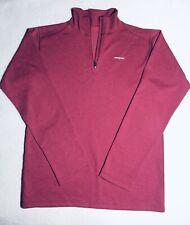 Patagonia Women's Capilene 3 Zip Neck Size L 12 Juniors Magenta Long Sleeve