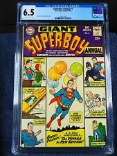Superboy Annual #1, 80 pg. Giant, CGC 6.5, 1964, ow/w pages, new slab