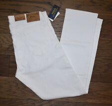 NWT Men's Polo Ralph Lauren Jeans VARICK SLIM STRAIGHT, White, W 36 L 30