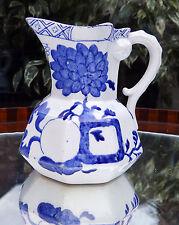 ANTIQUE FRENCH POTTERY: Céramique Davenport Hydra Jug-Fruit & Floral