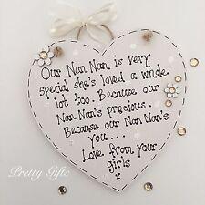 Personalised My Nan Mum Grandma Grandad Is Very Special Heart Plaque Gift