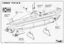 Submarino U-Boot Typ Iid Alemán (1/200 Kit de Modelismo, Planet Models Ns006)