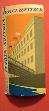 ANCIENNE ETIQUETTE HOTEL WEITZER - GRAZ - AUSTRIA - VINTAGE LUGGAGE LABEL 1950
