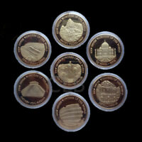 Seven Wonders Set Great Wall of China Commemorative Coin Medal Collector Gift