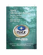 Polaris Owners Manual Book 2005 ATP 500 4X4