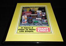 1994 Giant Eagle Supermarket Framed 11x14 ORIGINAL Advertisement