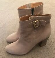 BAGATT REAL LEATHER ANKLE BOOTS TAUPE SIZE 7 UK 40EU WORN ONCE