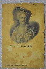"""CPA """" Personnage Historique de France - Mlle de Lamballe *** A Voir ***"""