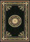 "FRENCH BLACK ORIENTAL AREA RUG 4X6 Persien CARPET 023 - ACTUAL 3' 7"" x 5' 2"""