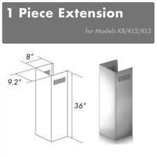 ZLINE CHIMNEY EXTENSION FOR WALL RANGE HOOD upTO 10 FT ceiling for KB, KL2, KL3