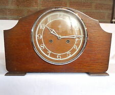 """SMITHS ENFIELD"". Chiming Mantel Clock in Napolean Hat Style Case."