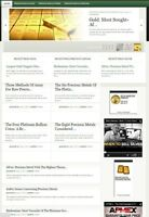 PRECIOUS METALS INVESTING WEBSITE BUSINESS and DOMAIN FOR SALE! 100% OWNERSHIP