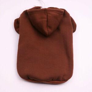 Solid Soft Warm Dog Hoodies Sweater Dog Coat Jacket Puppy Cat Sweatshirt Clothes