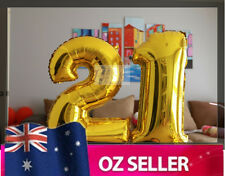 "Gold Foil Helium number balloon - 21st Birthday Party 40"" 40 inch AUS STOCK NEW"