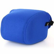 SONY NEX-3 3n 3nl/up to 55mm Lens NEOPRENE Camera Case Cover Bag Pouch Blue i