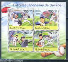 GUINEA BISSAU SPORTS JAPANESE BASEBALL STARS SHEET
